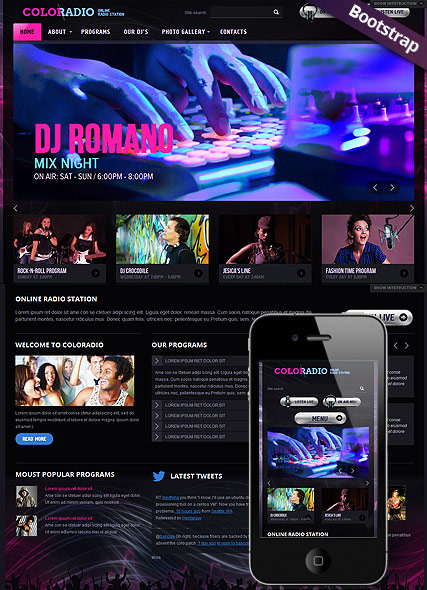 ColoRadio web template