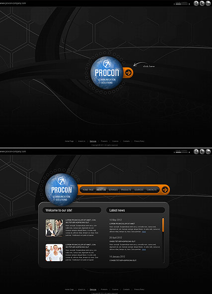 Communication Co. web template