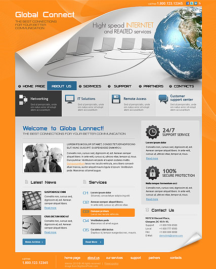 Communication web template