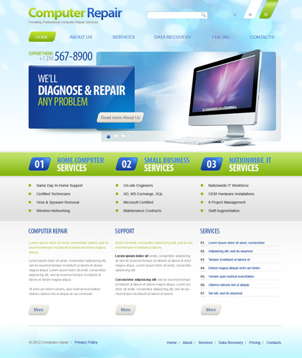 Computer Repair v2.5 web template