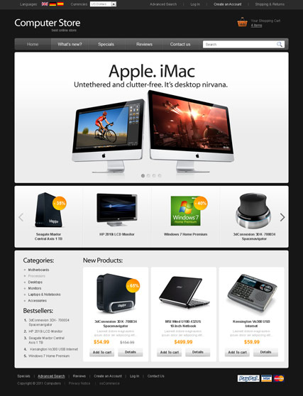 Computer store v2.3 web template