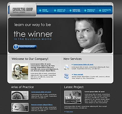 Consulting Gr. web template