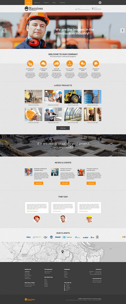 Contractor Workforce WordPress Theme