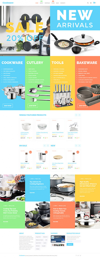 Cookware WooCommerce Theme
