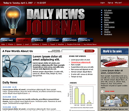 Daily news web template