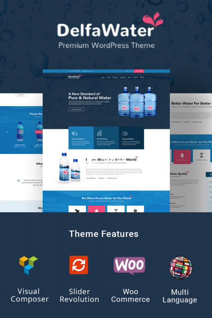 Delfa - Water Delivery WordPress Theme