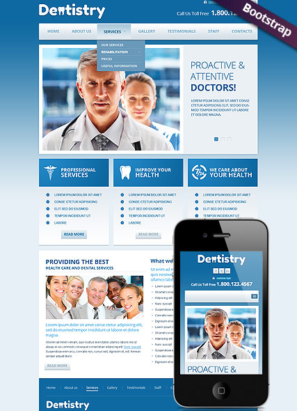 Dentistry web template
