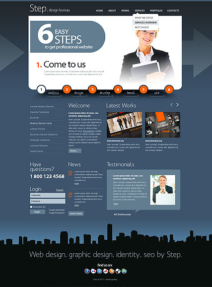 Design bureau v2.5 web template