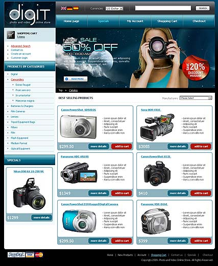 Digital Store web template