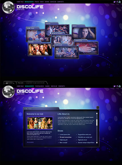 Disco Life web template