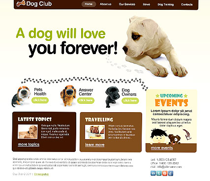 Dog Club web template