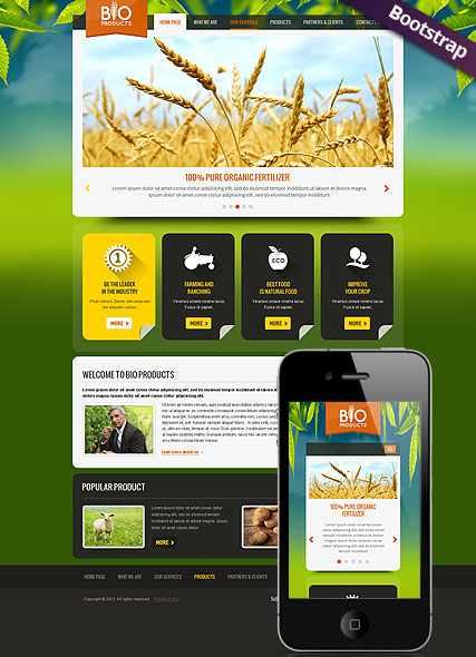 Eco Agriculture web template