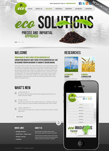 Ecology Business web template