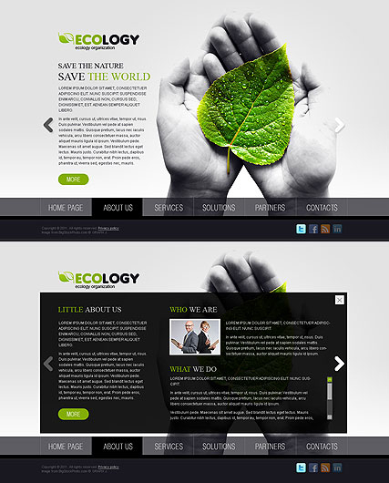 Ecology web template