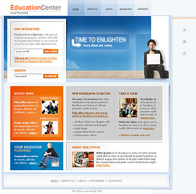Education center web template