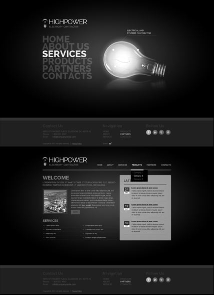 Electricity Contractor web template