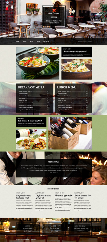 European Restaurant Muse Template