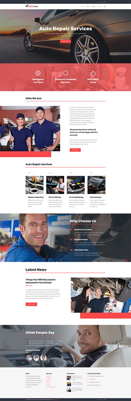 EXPER auto - Auto Repair Services Fully Responsive WordPress Theme