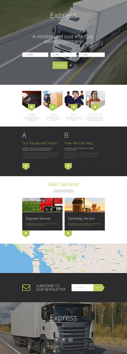 Express Landing Page Template