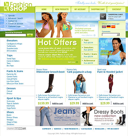 Fashion Shop web template