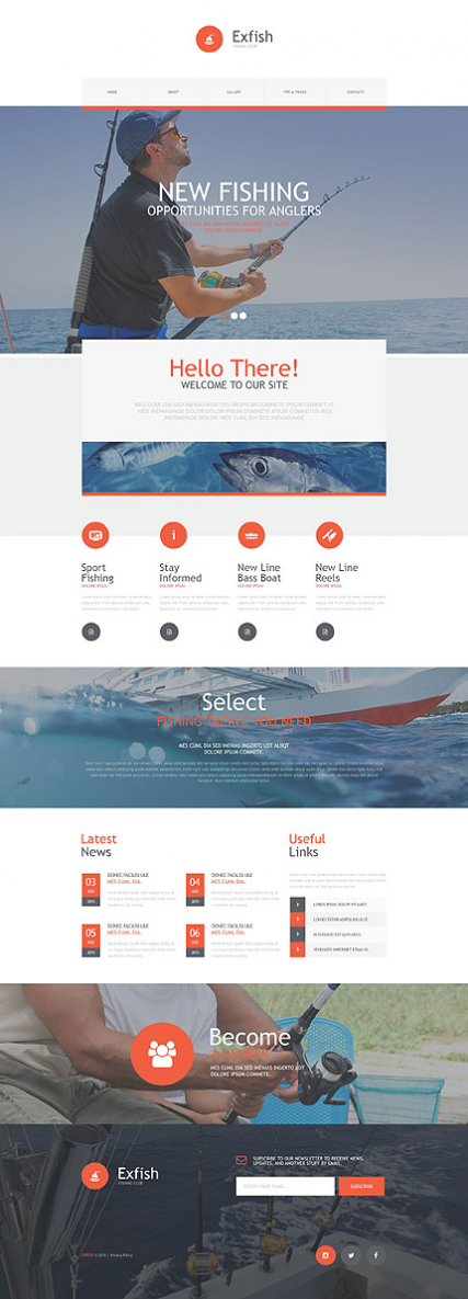 Fishing Muse Template