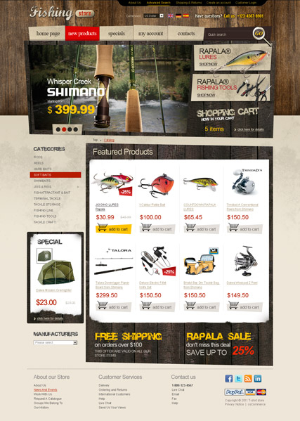 Fishing tackles 2.3ver web template