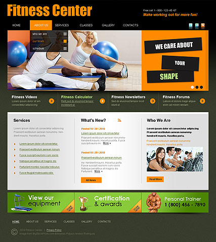 Fitness Center web template