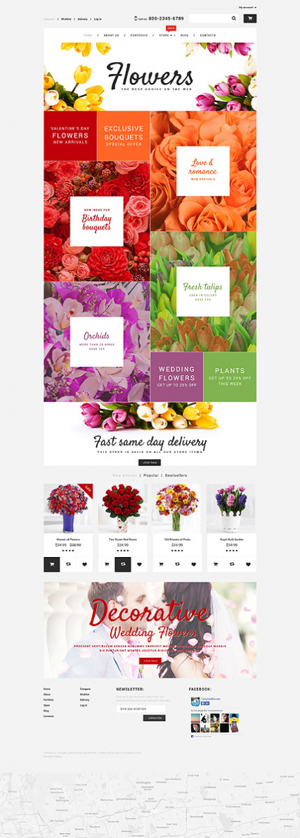 Flower Shop WooCommerce Theme
