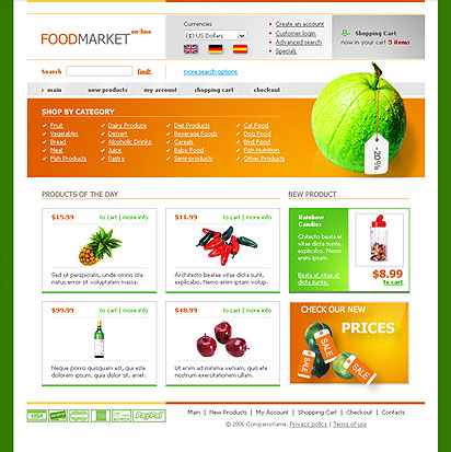Food store web template