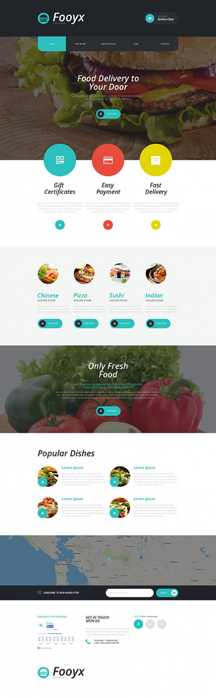 Fooxy - Food Delivery Service WordPress Theme