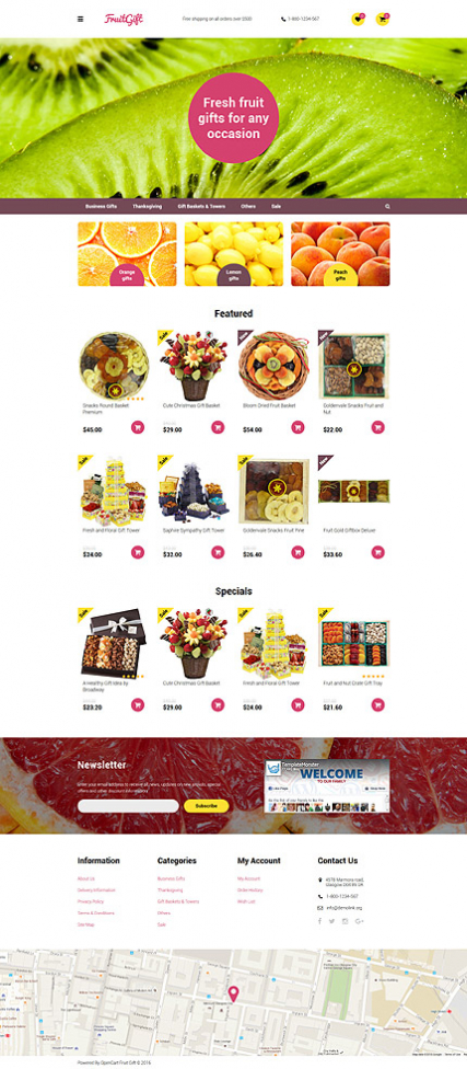 Fruit Gifts OpenCart Template