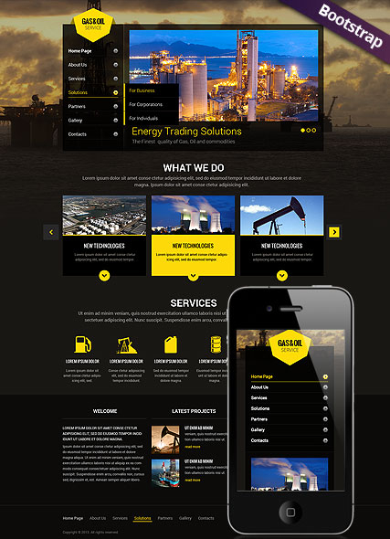 Gas and Oil web template