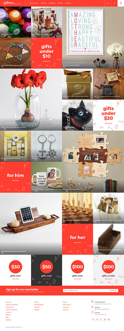 """Gifts Store"" colorfull Responsive OpenCart Template"