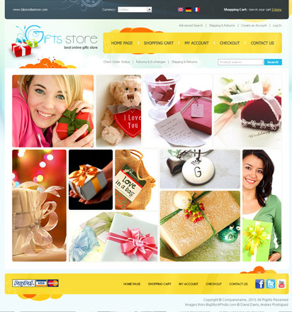 Gifts store web template
