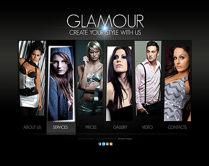 Glamour Fashion web template