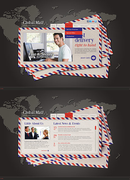 Global Mail web template