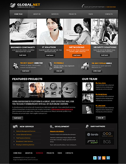 Global Network web template