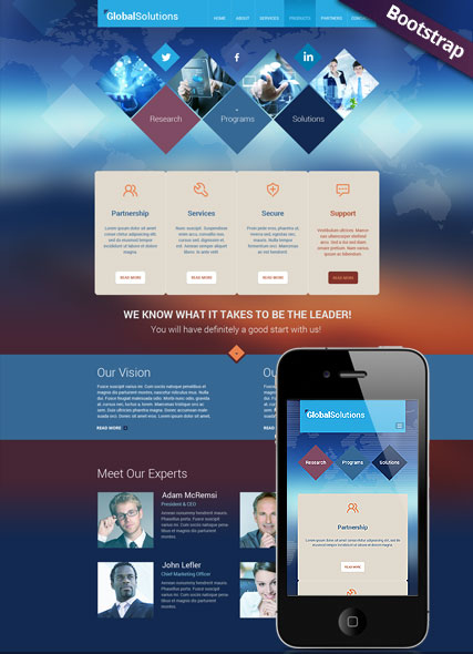 Global Solutions web template