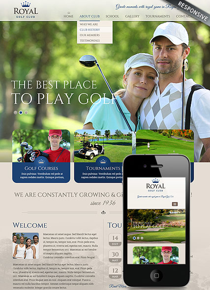 Golf club web template