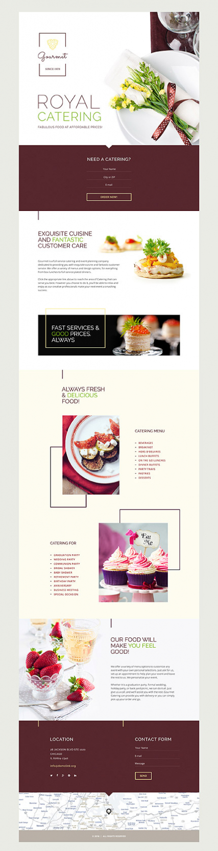 Gourmet Landing Page Template