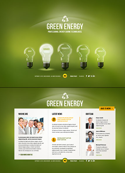 Green Energy web template