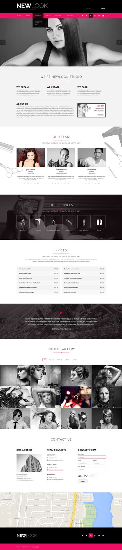 Hairdressing web template