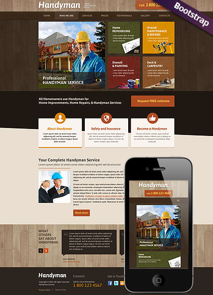 Handyman Service web template
