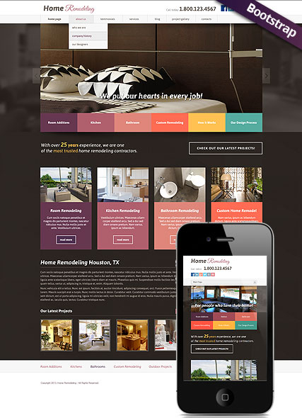 Home remodeling v3.0 web template