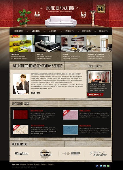 Home Renovation web template