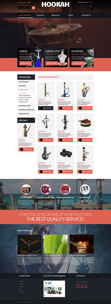 Hookah Store VirtueMart Template
