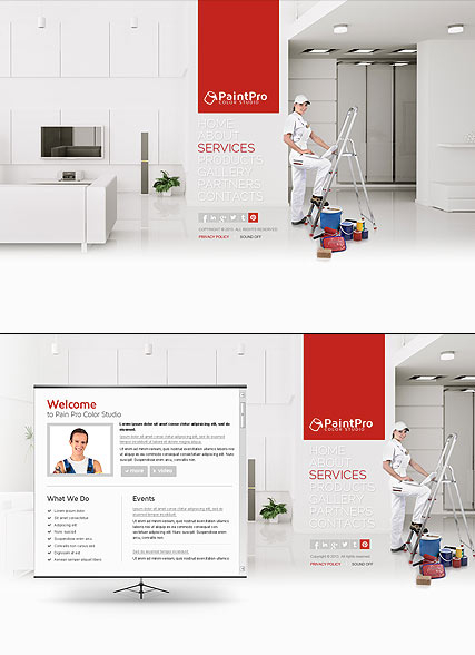 House Painting web template