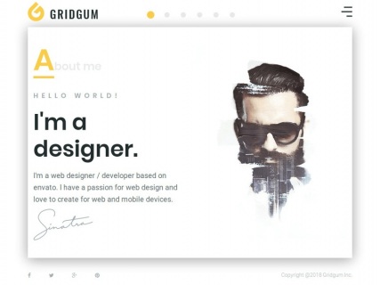 """Freelancer"" HTML template for personal portfolio"