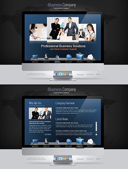iBusiness web template