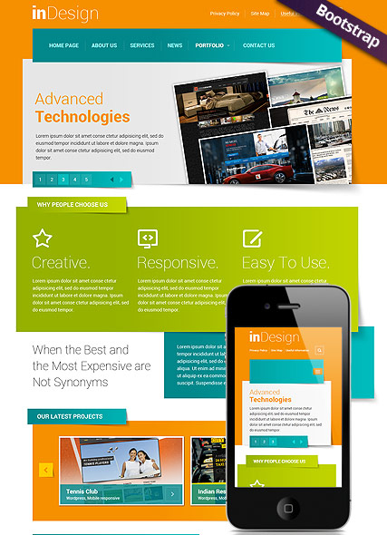 In Design web template